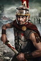 Nik Keevil ANCIENT ROMAN MAN ON BATTLEFIELD Men