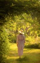 Debra Lill EDWARDIAN WOMAN WALKING IN GARDEN Women
