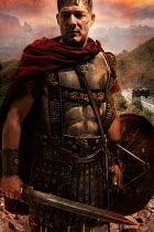 Nik Keevil ANCIENT ROMAN WEARING ARMOUR BY MOUNTAINS Men