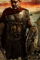 Nik Keevil ANCIENT ROMAN SOLDIER IN ARMOUR BY COASTLINE Men
