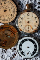Sally Mundy FOUR RUSTY ANTIQUE POCKET WATCHES Miscellaneous Objects