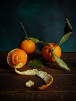 Jane Morley CLEMENTINES ON TABLE WITH PEEL Miscellaneous Objects