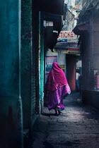 Ashraful Arefin WOMAN IN SARI IN OLD ALLEYWAY Women