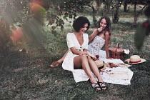 Vitali Bolucevschi TWO WOMEN HAVING PICNIC Women