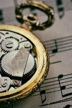 Jill Ferry FOB WATCH ON MUSICAL MANUSCRIPT Miscellaneous Objects