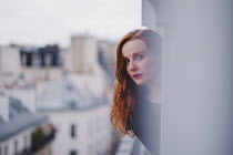 Anna Rakhvalova GIRL WATCHING STREET FROM HIGH WINDOW Women