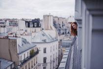 Anna Rakhvalova WOMAN WATCHING STREET FROM HIGH WINDOW Women