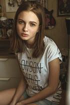 Arkadiy Nigmatulin TEENAGE GIRL IN WHITE T-SHIRT Women