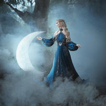 Anya Anti MAGICAL WOMAN WITH GIANT CRESCENT MOON Women