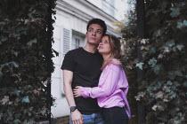 Anna Rakhvalova COUPLE OUTSIDE HOUSE WATCHING SKY Couples