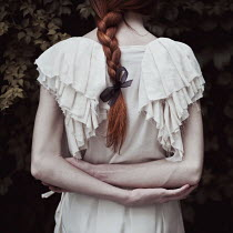 Monia Merlo WOMAN WITH RED HAIR FROM BEHIND OUTDOORS Women