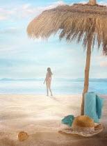 Drunaa WOMAN ON TROPICAL BEACH Women