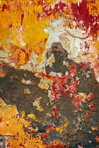 Irene Lamprakou TEXTURED WALL WITH RED AND YELLOW PAINT Building Detail