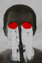 Andrei Cosma MALE HEAD WITH PAINTED EYES Men