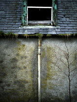 David Baker DILAPIDATED WINDOW AND DRAINPIPE Houses