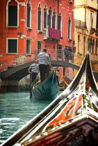 Michael Trevillion GONDOLAS WITH GONDOLIERS WITH VENETIAN BUILDINGS Miscellaneous Cities/Towns