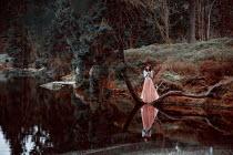 Nathalie Seiferth Woman in dress by lake Women