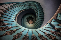 Jaroslaw Blaminsky DECORATIVE SPIRAL STAIRCASE FROM ABOVE Stairs/Steps