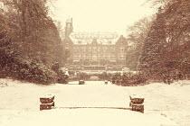 Yolande de Kort GRAND HOUSE AND GARDEN IN SNOW Houses