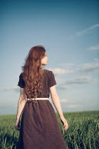 Magdalena Russocka young woman standing in field