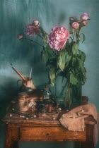 Magdalena Wasiczek Bouquet of peonies and miscellaneous objects Flowers