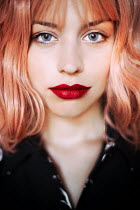 Ebru Sidar Young woman with red lipstick