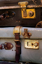 Ute Klaphake CLOSE UP OF TWO RETRO SUITCASES Miscellaneous Objects