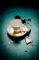 Jane Morley BROKEN TEACUP WITH SPILT TEA Miscellaneous Objects