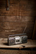 Colin Hutton DUSTY RADIO IN WOOODEN WORKSHOP Miscellaneous Objects