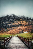 Evelina Kremsdorf Bridge to mountain in Glencoe, Scotland