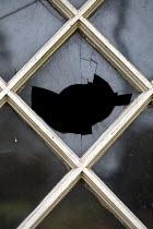 Alison Archinuk BROKEN LATTICE WINDOW FROM OUTSIDE Building Detail