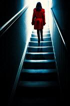 Magdalena Russocka teenage girl climbing stairs inside