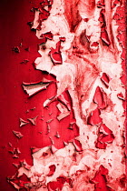 Natasza Fiedotjew red paint on wall peeling off