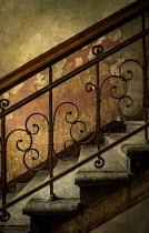 Jaroslaw Blaminsky SHABBY STAIRCASE WITH WROUGHT IRON