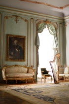ILINA SIMEONOVA GRAND INTERIOR OF HOUSE WITH HARP