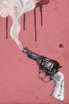 Mark Owen SMOKING GUN WITH DRIPPING BLOOD