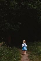 Shelley Richmond LITTLE BLONDE GIRL ON DARK COUNTRY PATH