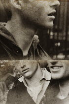 Giovan Battista D'Achille WEATHERED PHOTOGRAPHS OF YOUNG MEN