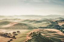 Evelina Kremsdorf ITALIAN LANDSCAPE WITH VILLA IN SUMMER