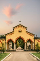Evelina Kremsdorf ARCHED ENTRANCE TO ITALIAN CEMETERY