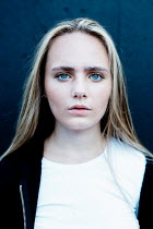 Shelley Richmond SERIOUS GIRL WITH LONG BLONDE HAIR AND BLUE EYES