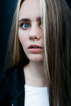 Shelley Richmond WORRIED GIRL WITH LONG BLONDE HAIR AND BLUE EYES