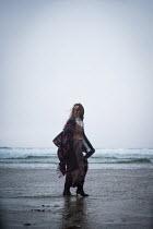 Marie Carr HISTORICAL WOMAN WALKING ON BEACH